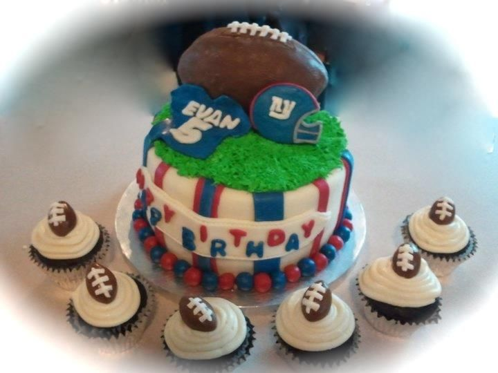 Ny Giants Themed Birthday Cake My Cakes Pinterest Birthday