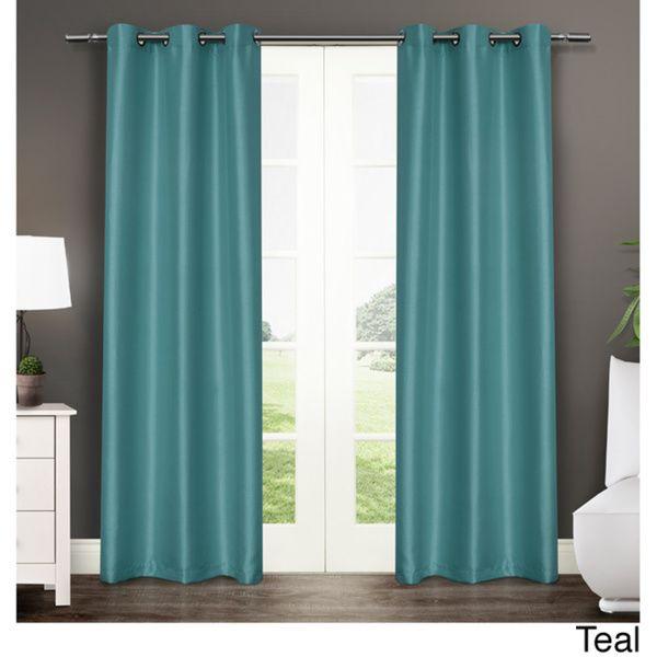 Antique Satin Grommet Top 84 Inch Curtain Panel Pair 38