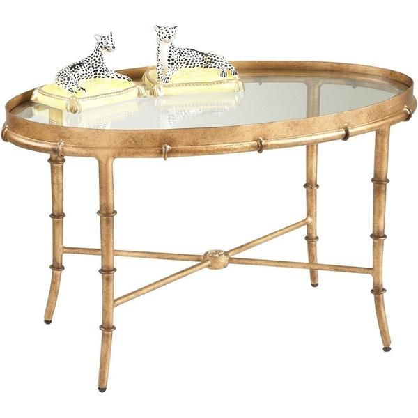 Chelsea House Antique Gold Bamboo Cocktail Table 380040 In 2020