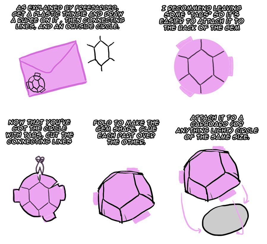 Steven Universe Amethysts Gem From A Folder Crafty