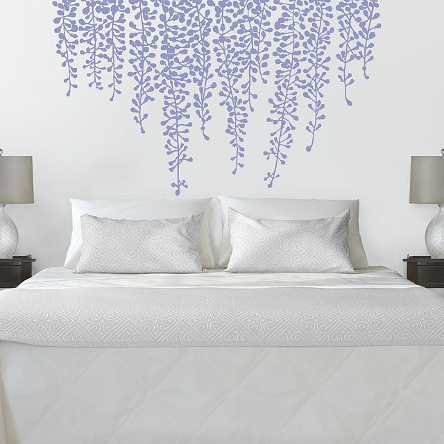 Hanging Wisteria Rub On Transfer Decal by Martha Stewart Wall Art Decals™ | Bedroom Decor  sc 1 st  Pinterest & Hanging Wisteria Rub On Transfer Decal by Martha Stewart Wall Art ...