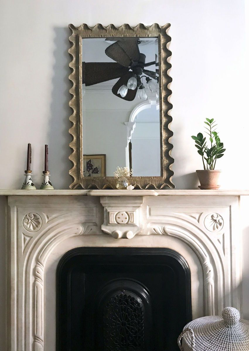 The Original Marble Fireplace With A Favorite Pair Of Vintage