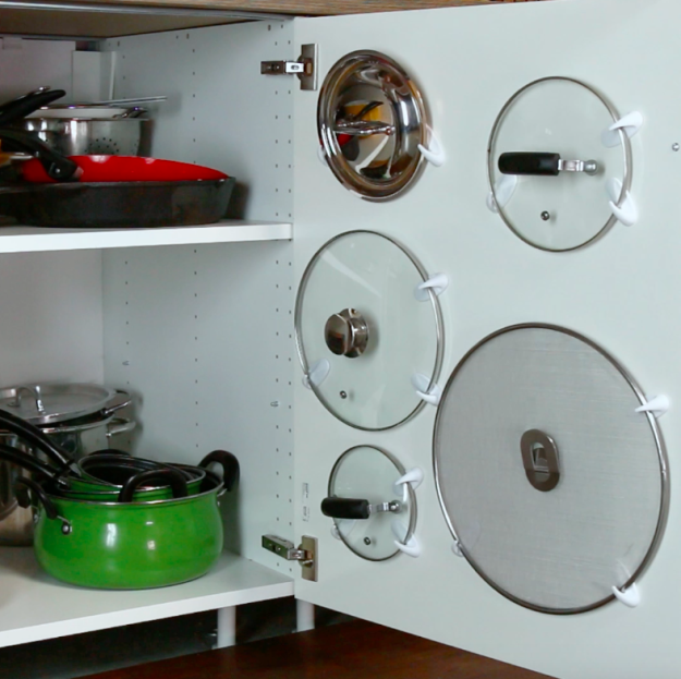 These Adhesive Hook Hacks Will Make Your Kitchen So Organized
