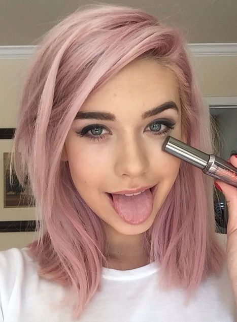 If i didnt have to adult id have pink hair makeup amanda steele pink hair and beautiful makeup solutioingenieria Gallery