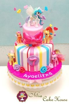 my little pony birthday cakes generhlia