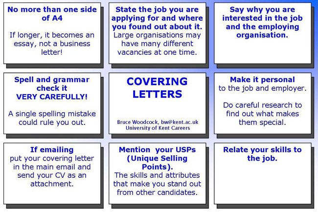 How to write Covering Letters Career Development Pinterest The