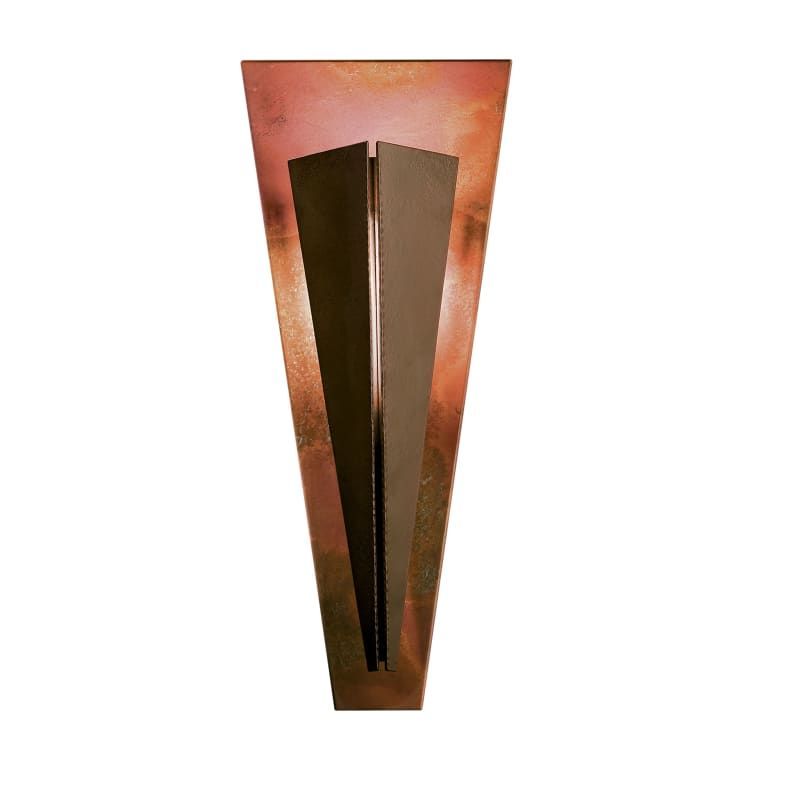 Photo of Hubbardton Forge 213256-SKT Tapered Angle Single Light 20″ Tall Bathroom Sconce Bronze / Copper Indoor Lighting Bathroom Fixtures Bathroom Sconce