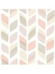papier peint motif retro pastel beige rose grandeco big girl room pinterest motif. Black Bedroom Furniture Sets. Home Design Ideas