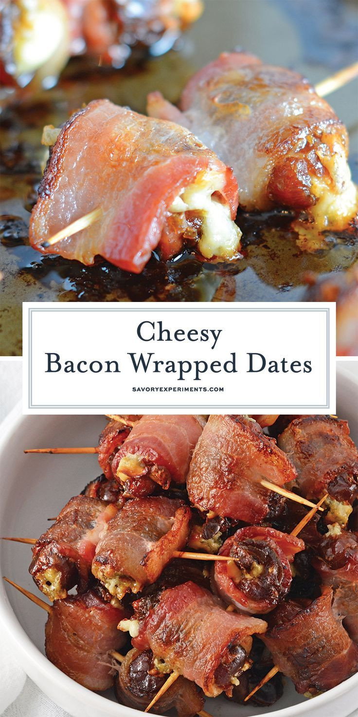 BACON WRAPPED DATES ARE AN EASY 4 INGREDIENT APPETIZER OR