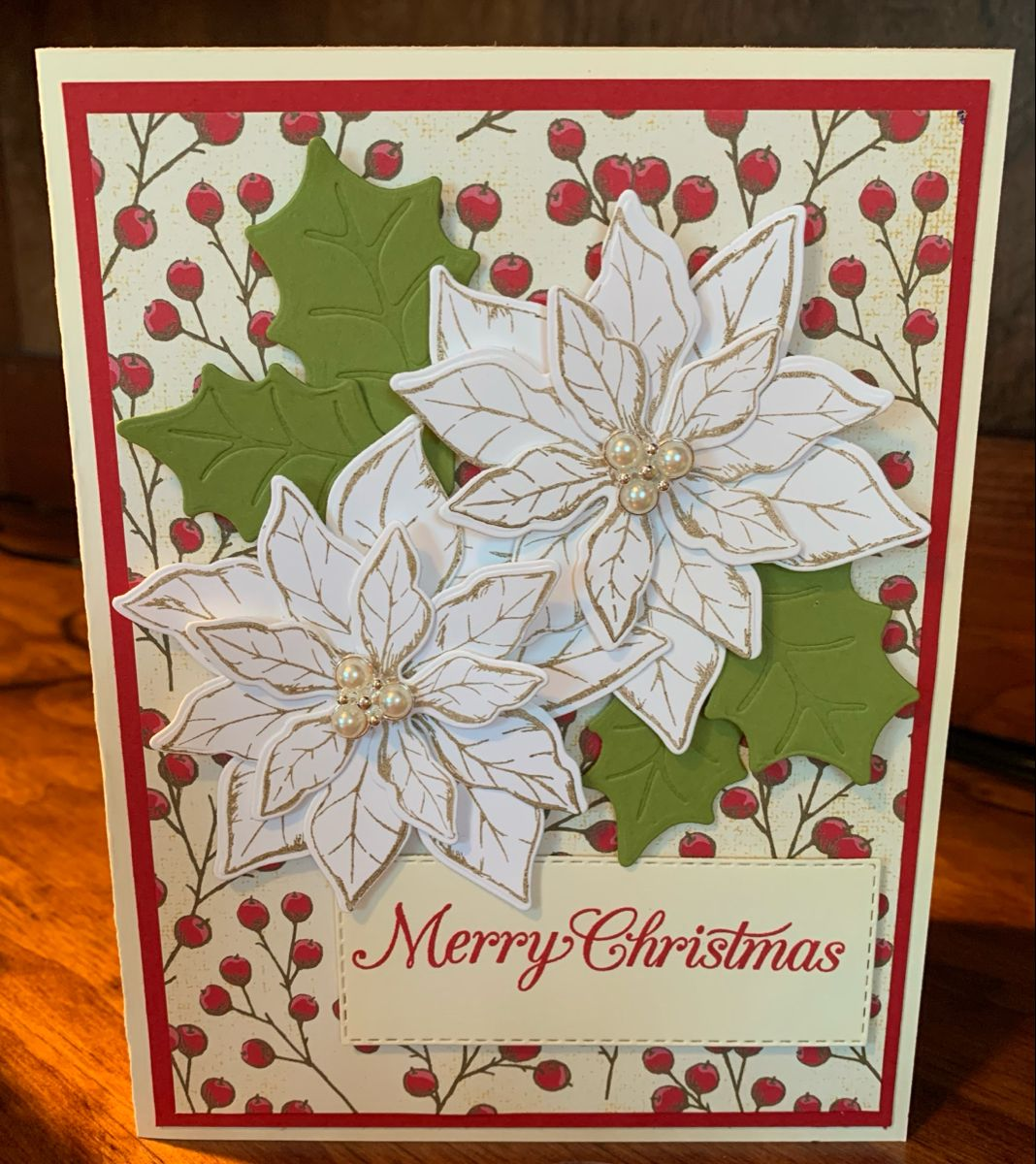 Poinsettias For Christmas 2020 Stampin Up Poinsettia Petals in 2020 | Holiday cards handmade