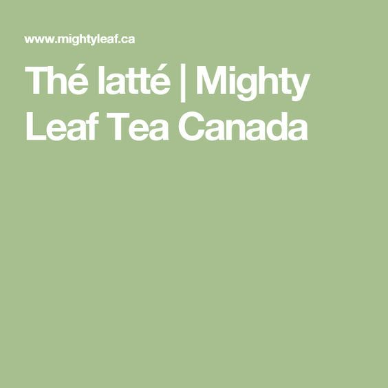 Thé latté | Mighty Leaf Tea Canada