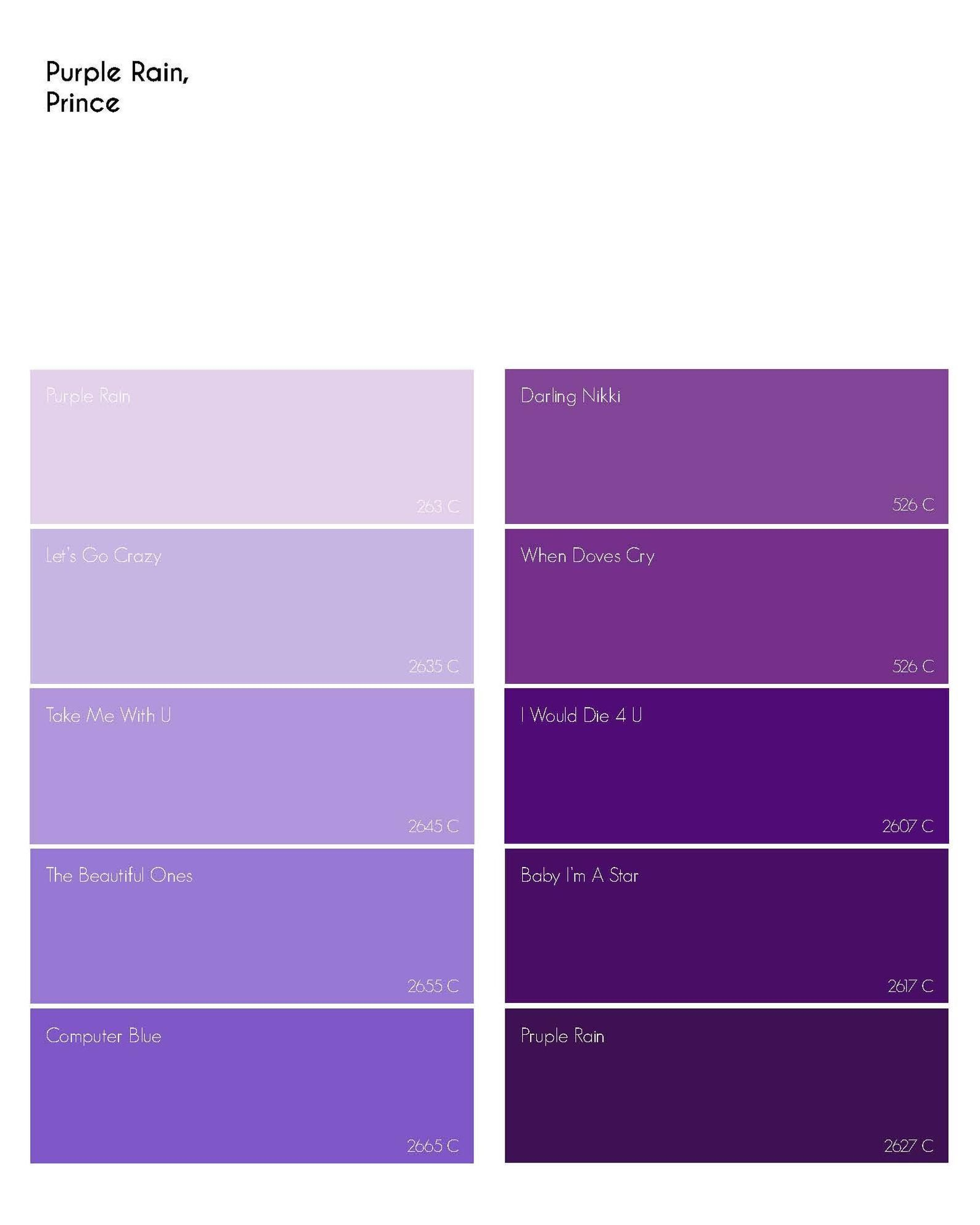 pantone palette print purple rain by prince etsy 2020 273c 7590