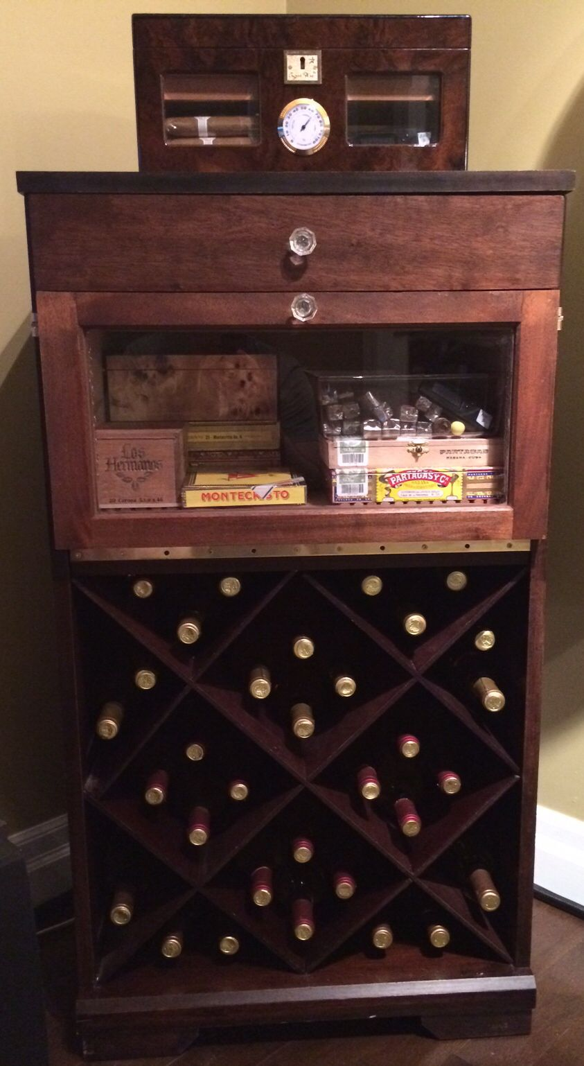 Humidor Built Into Wine Cabinet