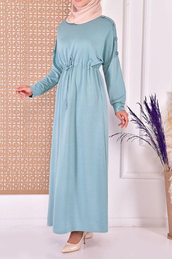 تسوقي أون لاين من تركيا فستان أخضر قطن بوليستر مودانيسا أزياء محجبات ملابس محجبات Dresses With Sleeves Maxi Dress Dresses