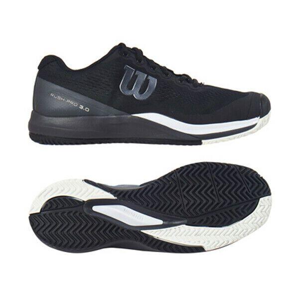 989e6bbe6d Wilson Rush Pro 3.0 Men's Tennis Shoes Black All Court Racquet Racket  WRS325530 #Wilson