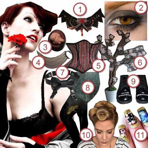 Recreate the cabaret punk style of Amanda Palmer @amandapalmer with Creature Of Whim's #DIYTheLook http://ift.tt/1Q51CFQ