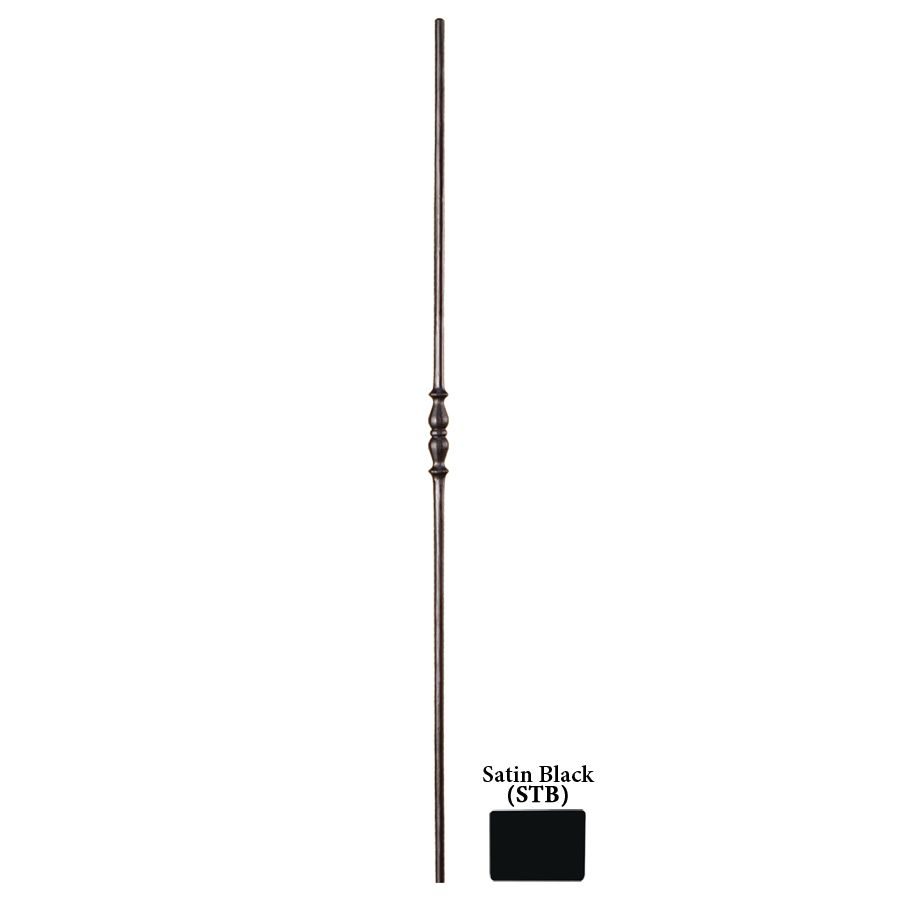 Shop House of Forgings Solid 44-in Satin Black Wrought Iron Tuscan Stair Baluster at Lowes.com