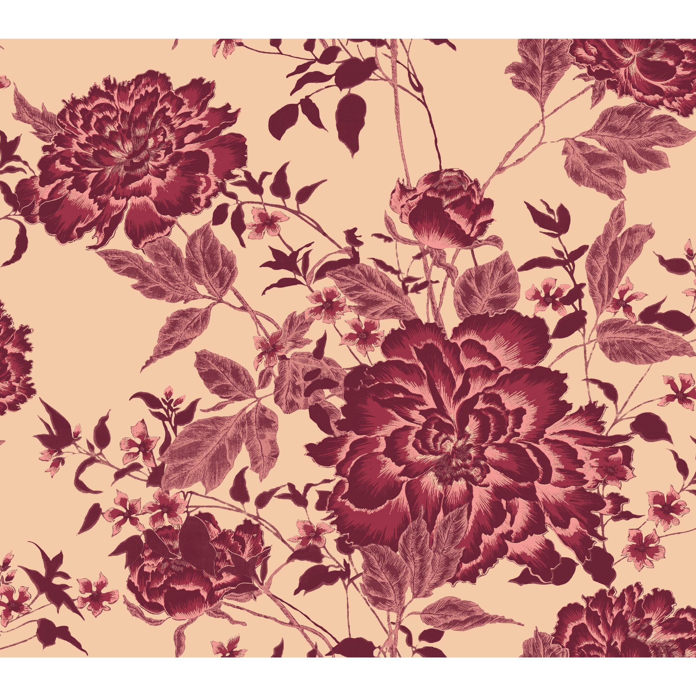 Vintage Floral Red Peel Stick Wallpaper By Drew Barrymore Flower Home Walmart Com In 2021 Wallpaper Peel And Stick Wallpaper Vintage Floral