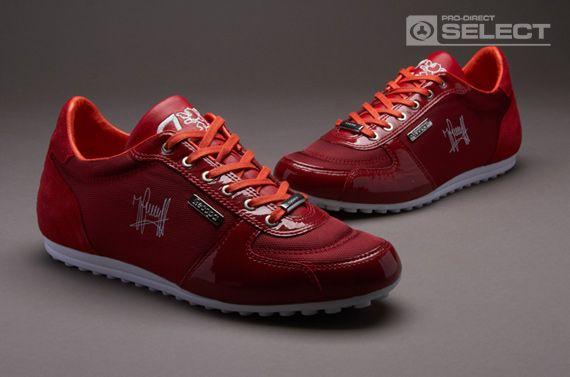 red cruyff trainers