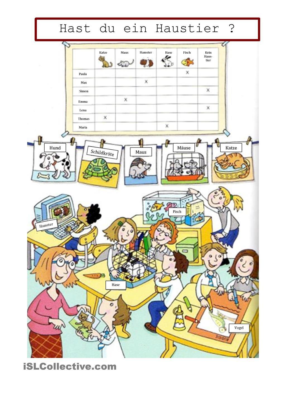 Hast du Haustiere? | Pinterest | Haustiere, Schreiben Arbeitsblatt ...
