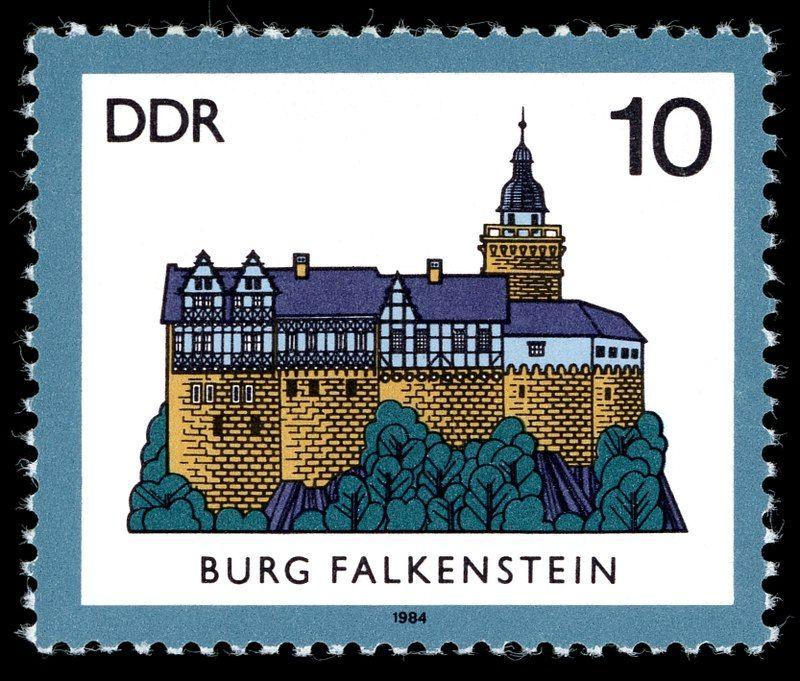 Germany (DDR) 1984 Burg Falkenstein im Harz (Sachsen