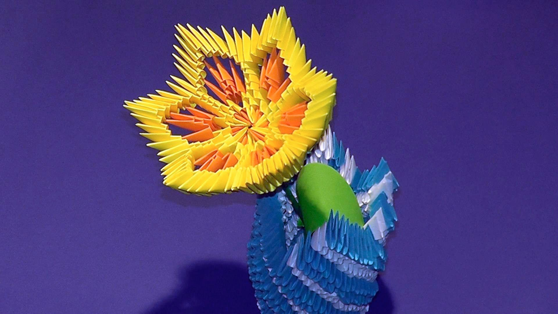 3d Origami Flower Lily Lotus Tutorial Origami Pinterest 3d