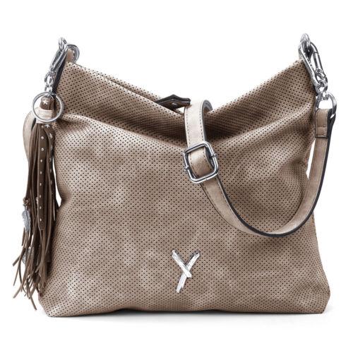 Suri Frey Damen Crossbody Bag Romy 11585 Umhängetasche BOHO Anhänger Sand beige
