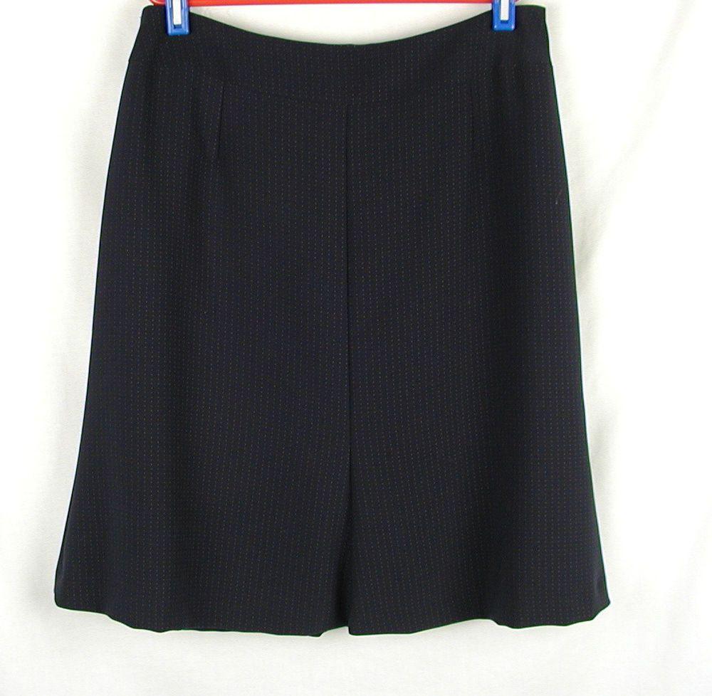 Talbots Petites Skirt Size 10 petite Blue A Line Subtle Dot Back Zip Career #Talbots #ALine