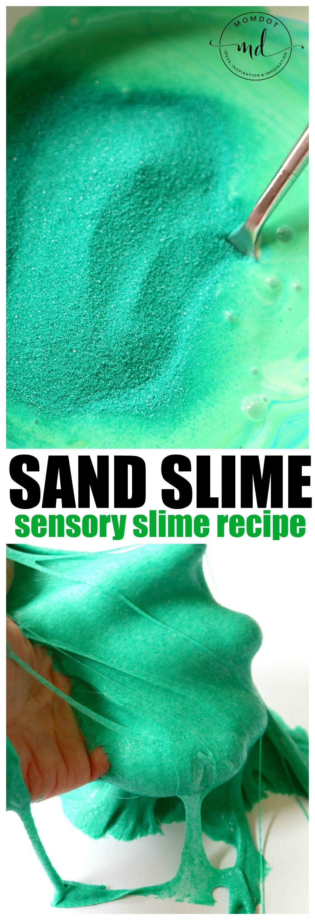 Sand Slime DIY Sand Slime for