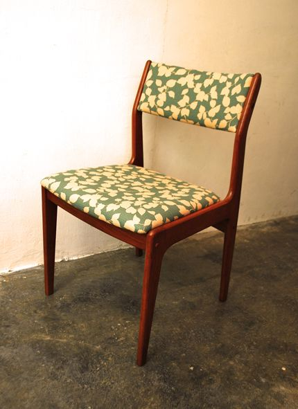 Teak Chair In Fabulous Vintage Florals Teak Chairs Furniture Restoration Chair