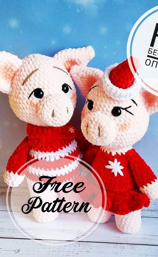 Cochon Amigurumi Free Crochet Pattern – Patrons Amigurumi gratuits, pour …   – Amigurumi