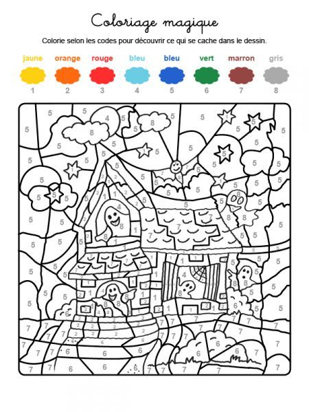 Coloriage Magique De Halloween Drawings Coloring Books Color By