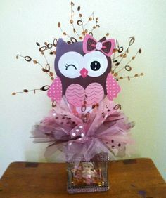 BABY SHOWER DECORATIONS OWL THEME GIRL