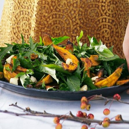 Roasted Squash with Date Relish and Pumpkin Seeds Recipe