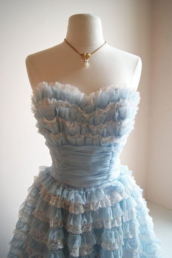 Reserved 50s Dress 50s Prom Dress Vintage 1950s