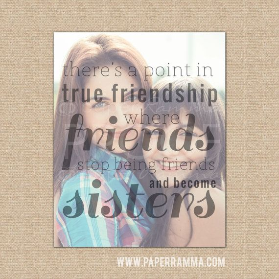 True Friendship Quote, Best Friend Christmas Gift By
