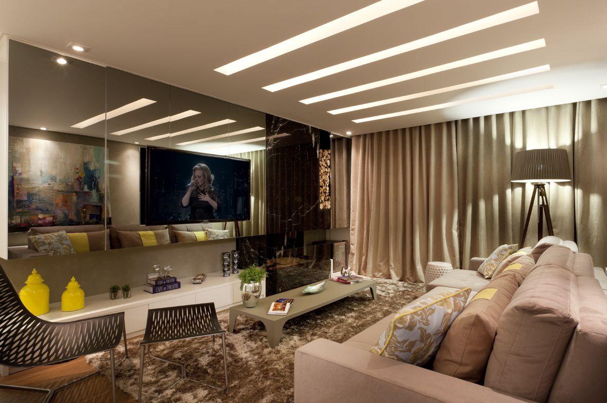 Iluminacao Adequada Para Sala De Tv Mediabix Com Inspira O De