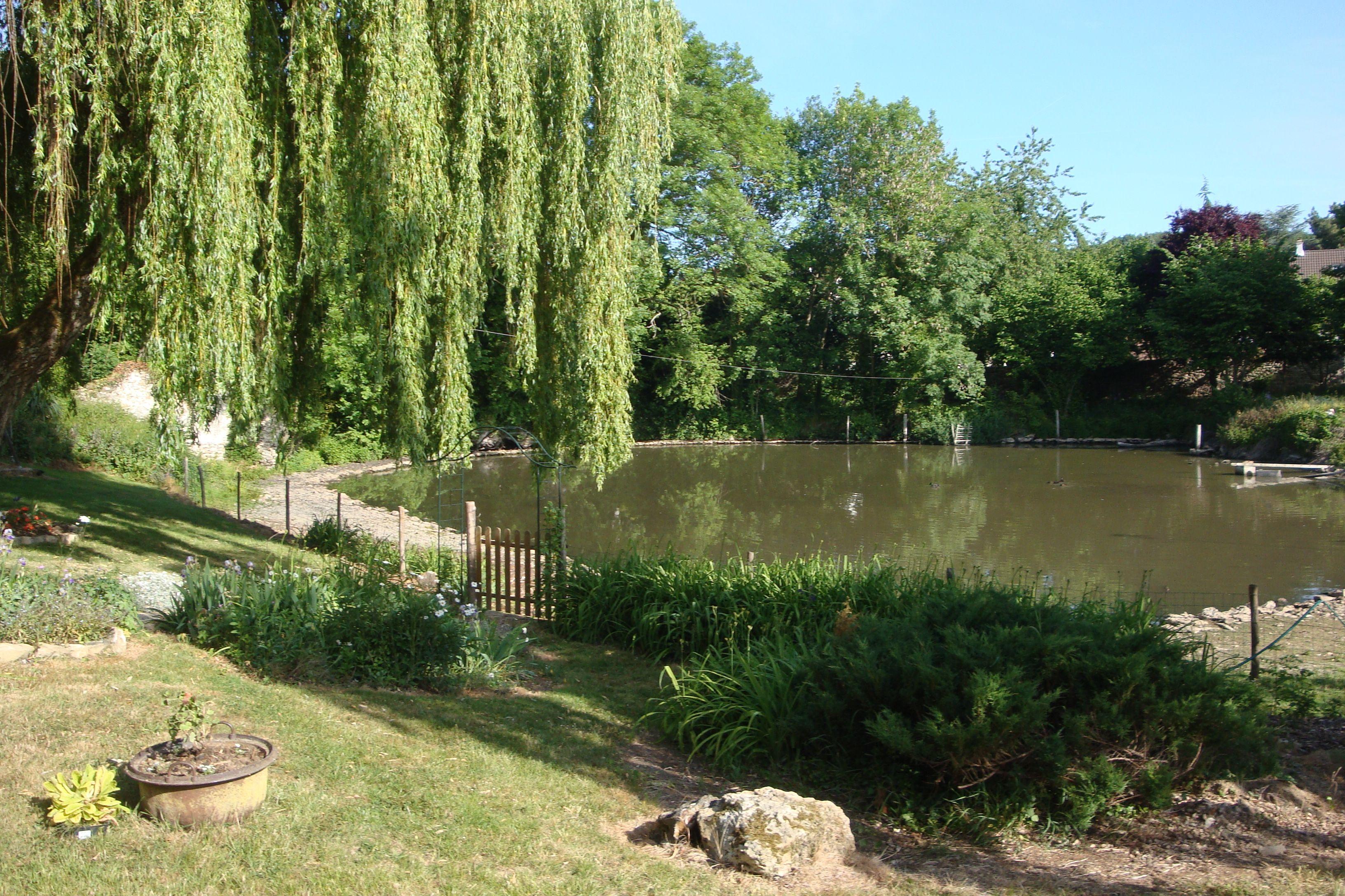 Vous pourrez profiter du magnifique jardin avec étang dans cette ferme de caractère.  M et Mme Evain vous réservent un accueil chaleureux.