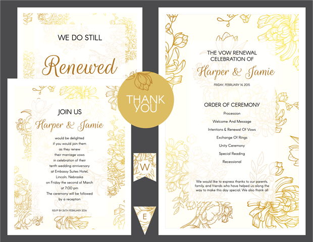 Wedding Renewal Invitation Wording: These Free Vow Renewal Invitation Templates Are Completely
