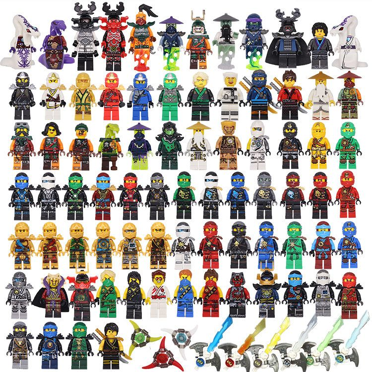 NINJA Heroes Kai Jay Cole Zane Nya Lloyd With Weapons Action Toy ninjago Figure