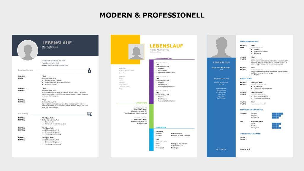 Moderner Lebenslauf Kostenlose Vorlage Word 2021 Informative Standard Cv Format Words