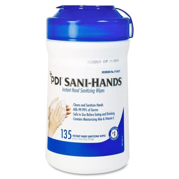 Sani Hands Alc Antimicrobial Hand Sanitizing Wipes In 2020 Hand