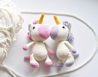 Amigurumi Unicorn : Unicorn amigurumi unicorn free us shipping crochet unicorn