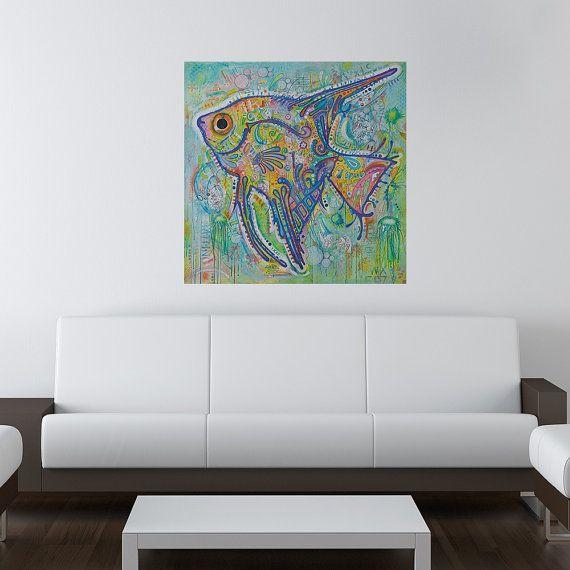Angel Fish Wall Sticker Decal - Animal Pop Art by Dean Russo | Angel ...