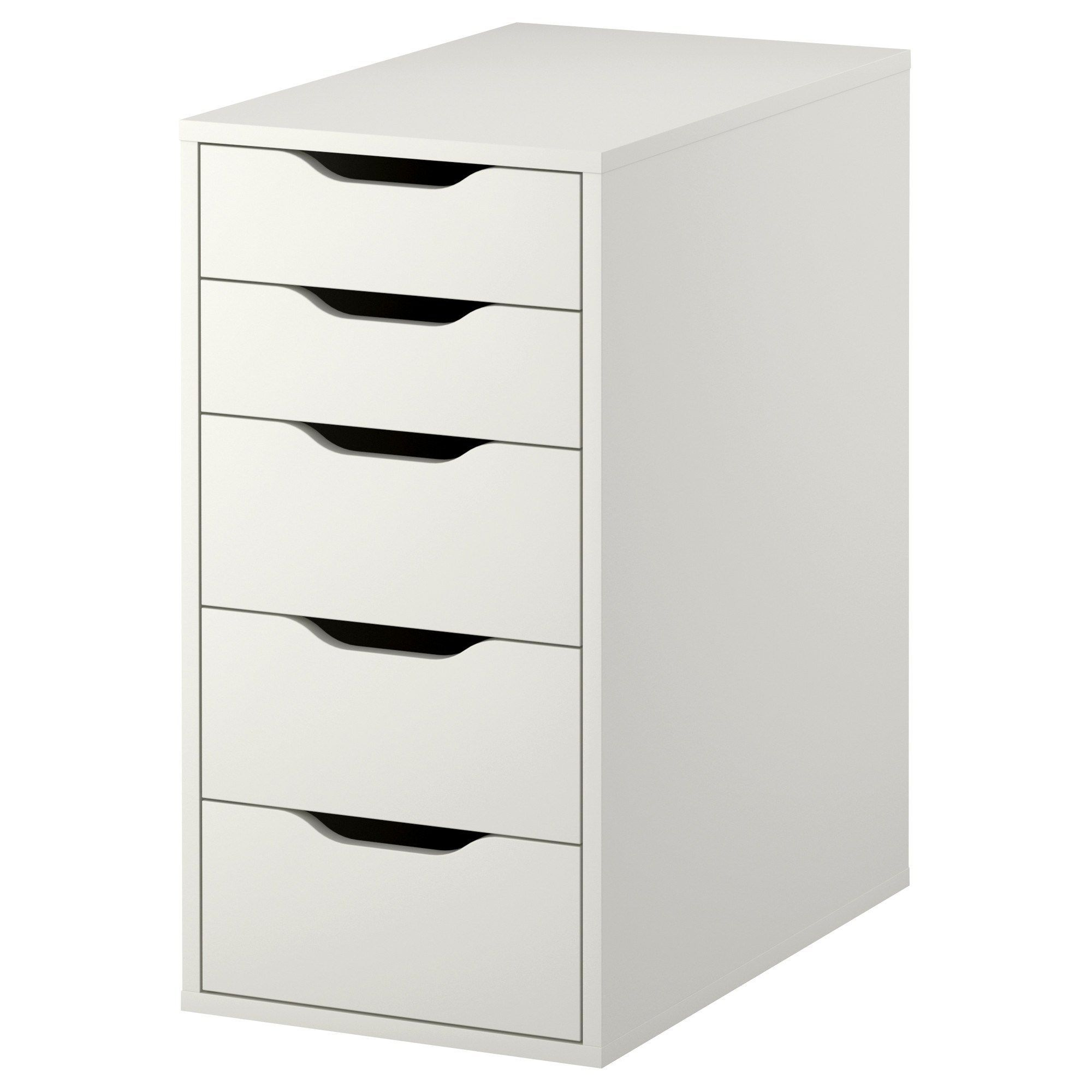 ikea alex 5 drawer vanity unit white