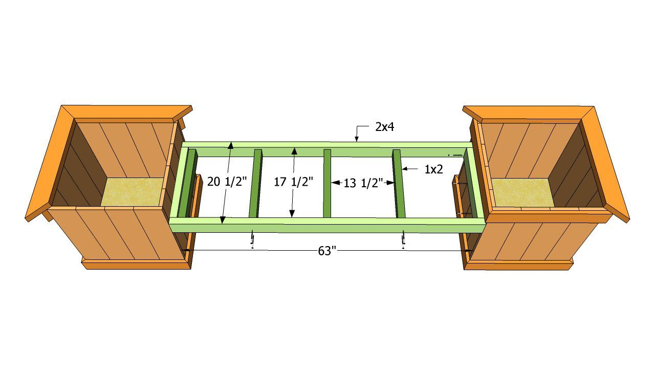 Planter Bench Plans Myoutdoorplans Free Woodworking Plans And Projects Diy Shed Wooden Playhous Planter