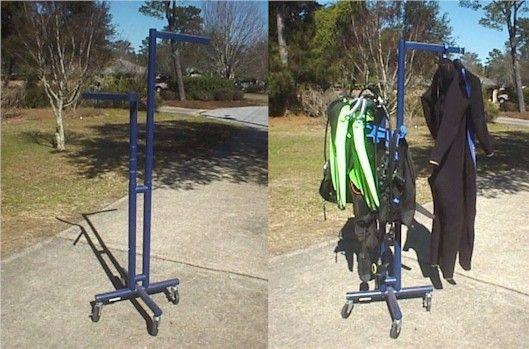 scuba drying rack - make it from PVC
