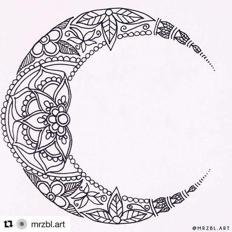 pin by karen doolittle on tats tatouage mandala lune. Black Bedroom Furniture Sets. Home Design Ideas