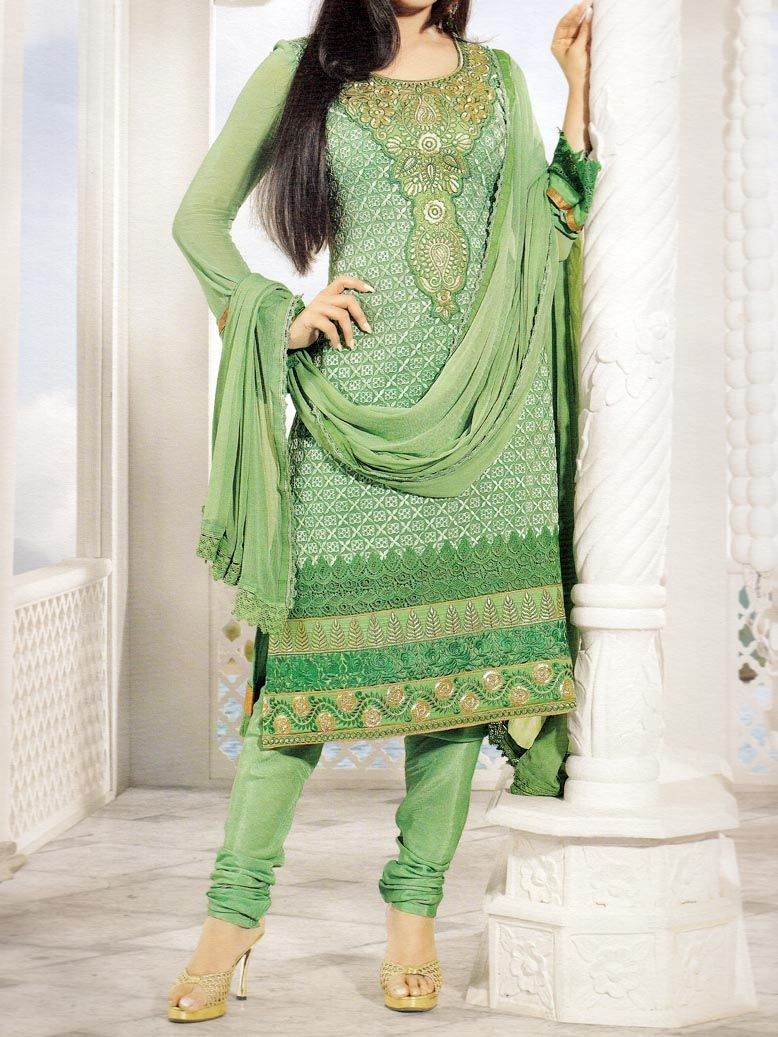 Light green lace dress  Indian Salwar Kameez Kangana Light Green  wafafashion