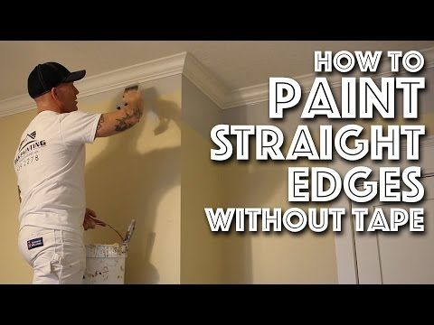 How To Paint Edges Without Painter S Tape Youtube Painting Edges Painting Trim Painting Baseboards